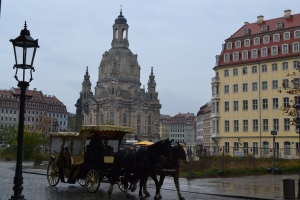 Frauenkirche in the rain