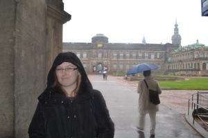 Gwynnie in the rain