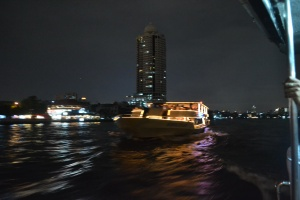 Night-time boats in Bangkok